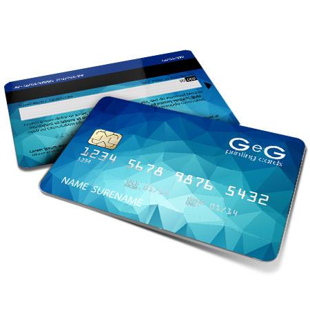 credit card in pvc